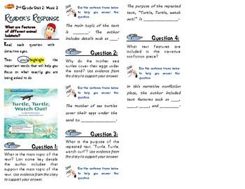 McGraw-Hill Wonders-Unit 2 Week 3-Reader's Response (2nd Grade)