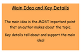 McGraw-Hill Unit 3 Week 5 Main Idea and Key Details- Many