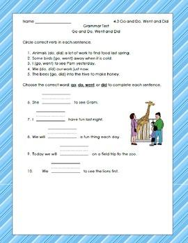 McGraw Hill Unit 4 Grammar Tests