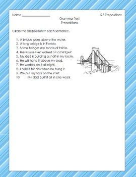 McGraw Hill Unit 5 Grammar Tests
