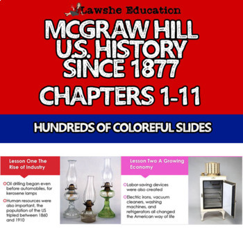 McGraw Hill United States History Chapters 1-11 Bundle Set 1