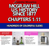 McGraw Hill United States History PowerPoint Chapters 1-11 Bundle Set 1