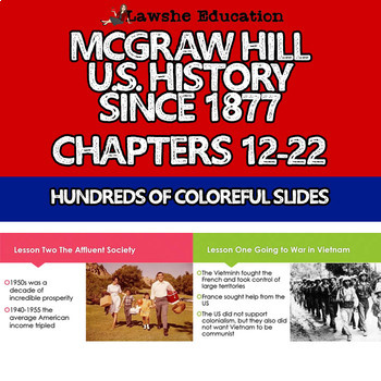 McGraw Hill United States History Chapters 12-22 Bundle Set 2