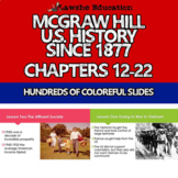 McGraw Hill United States History PowerPoint Chapters 12-22 Bundle Set 2