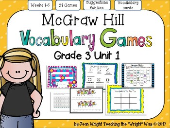 McGraw Hill Wonders Vocabulary Games Grade 3 Unit 1
