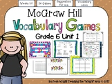 McGraw Hill Wonders Vocabulary Games Grade 6 Unit 1