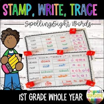 WONDERS 1st grade SPELLING & SIGHT WORDS Stamp it, Trace it