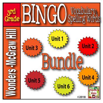 McGraw-Hill    WONDERS  3rd Grade  BINGO  BUNDLE