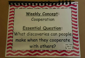 McGraw-Hill WONDERS 5th Gr Weekly Concepts/Essential Questions-Sm Start/Theme #1