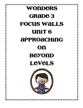WONDERS Grade 3 Unit 6 Focus Walls Bundle