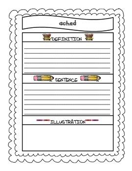 WONDERS Grade 3 Vocabulary Journal ALL UNITS