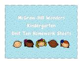 McGraw-Hill WONDERS Homework Packet Unit 10