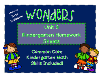 Wonders Kindergarten Homework Packet Unit 3