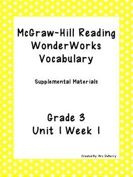 McGraw Hill Wonder Works Vocabulary Supplements