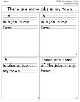 McGraw Hill Wonders 1st Grade  4square Writing templates Unit 2