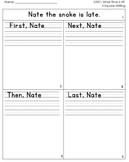 McGraw Hill Wonders 1st Grade  4square Writing templates Unit 3