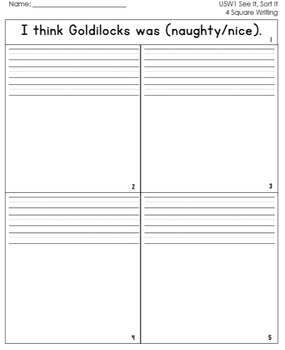 McGraw Hill Wonders 1st Grade  4square Writing templates Unit 5