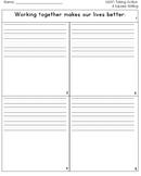 McGraw Hill Wonders 1st Grade  4square Writing templates Unit 6