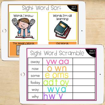 1st Grade McGraw-Hill Wonders Digital Activities for Google Classroom Unit 3