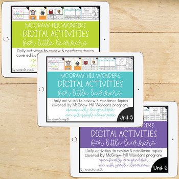 1st Grade McGraw-Hill Wonders Digital Activities for THE WHOLE YEAR!