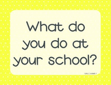 McGraw Hill Wonders 1st Grade Essential Question - yellow w/dots