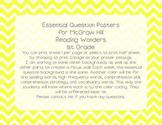 McGraw Hill Wonders 1st Grade Essential Question - Yellow Chevron