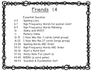 McGraw Hill Wonders 1st Grade Friends 1.4 {10 Literacy Activities}