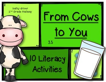 McGraw Hill Wonders 1st Grade From Cows to You 3.5 {10 Literacy Activities}