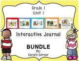 McGraw Hill Wonders 1st Grade Interactive Journal Unit 1 BUNDLE