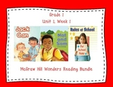 McGraw Hill Wonders 1st Grade Interactive Journal Unit 1 -Week 1