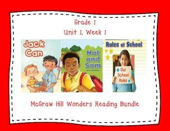 McGraw Hill Wonders 1st Grade Interactive Journal Unit 1 -Week 1