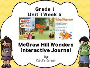 Wonders 1st Grade Interactive Journal Unit 1 -Week 5