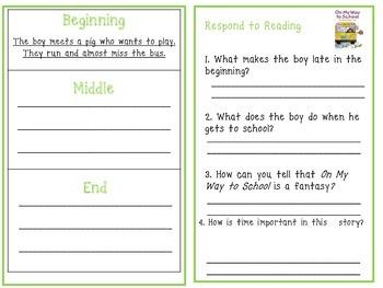 Wonders 1st Grade Interactive Journal Unit 3- Week 1