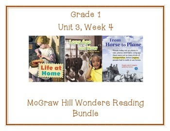 McGraw Hill Wonders 1st Grade Interactive Journal Unit 3- Week 4