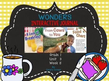 Wonders 1st Grade Interactive Journal Unit 3- Week 5