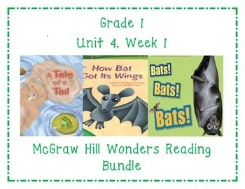 McGraw Hill Wonders 1st Grade Interactive Journal Unit 4-Week 1