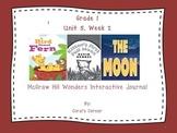 McGraw Hill Wonders 1st Grade Interactive Journal Unit 5-Week 2