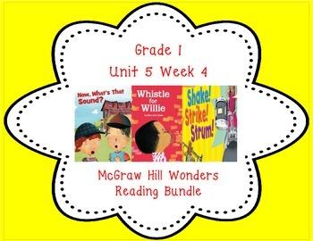 McGraw Hill Wonders 1st Grade Interactive Journal Unit 5-Week 4