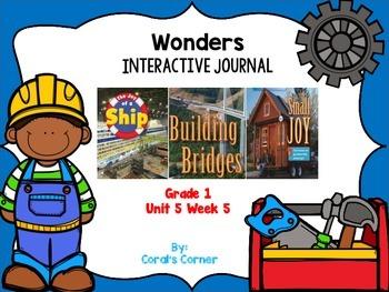 McGraw Hill Wonders 1st Grade Interactive Journal Unit 5- Week 5