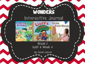 Wonders 1st Grade Interactive Journal Unit 6- Week 4