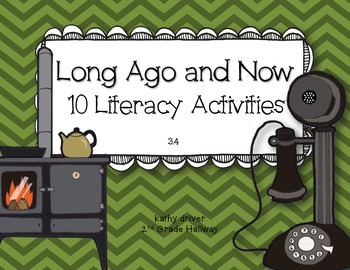 McGraw Hill Wonders 1st Grade Long Ago and Now 3.4 {10 Literacy Activities}