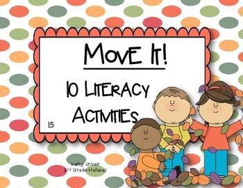 McGraw Hill Wonders 1st Grade Move it! 1.5 {10 Literacy Ac