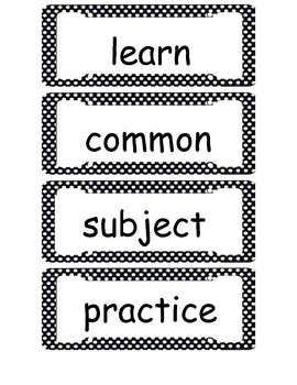 McGraw Hill Wonders 1st Grade Oral Vocabulary Cards Unit 1