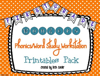 1st Grade Phonics/Word Study Workstation Printables to Correlate with Wonders