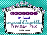 McGraw-Hill Wonders 1st Grade Science Social Studies Workstation Card Printables