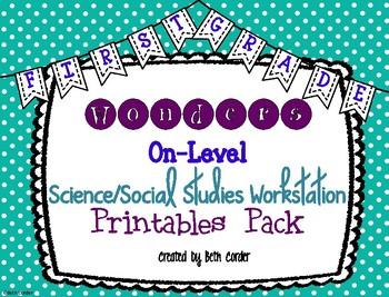 McGraw-Hill Wonders 1st Grade Science Social Studies Workstation Card Printables