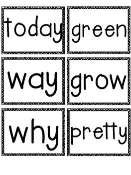 McGraw Hill Wonders 1st Grade Sight Words