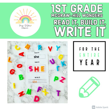 McGraw-Hill Wonders 1st Grade Sight Words Read it, Build it, Write it