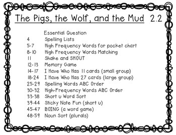 McGraw Hill Wonders 1st Grade The Pigs, the Wolf, and the Mud