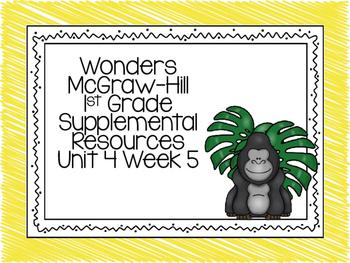 McGraw-Hill Wonders 1st Grade Unit 4 Week 5 Supplemental Focus Wall